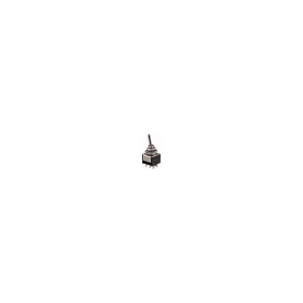 Deviatore miniatura a leva 3 posizioni 2 scambi (ON)-OFF-ON