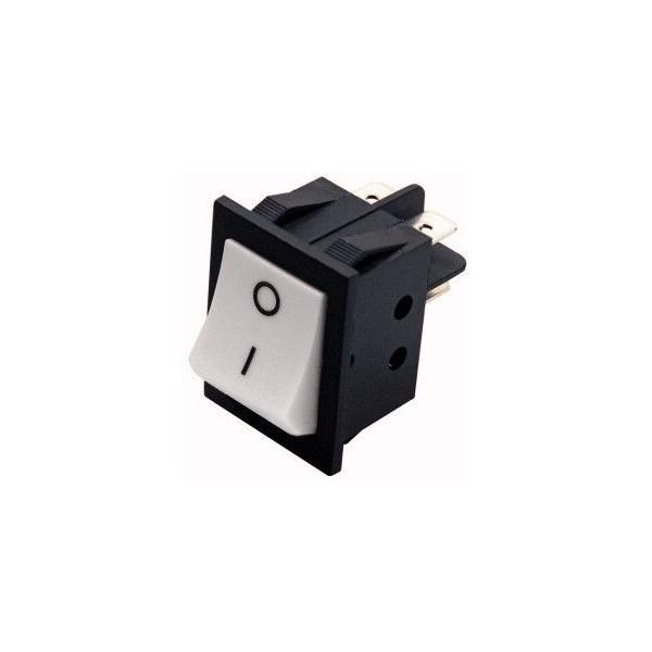 Interruttore pulsante bascula bipolare bianco 15A