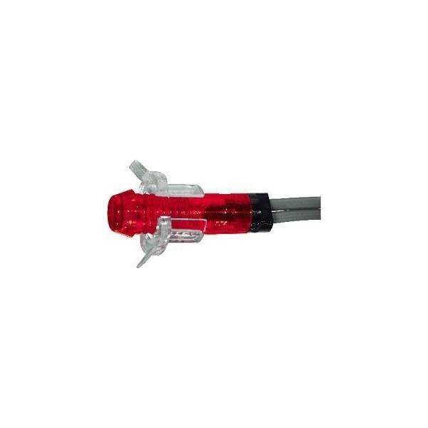 Spia rossa al neon 220V stretta