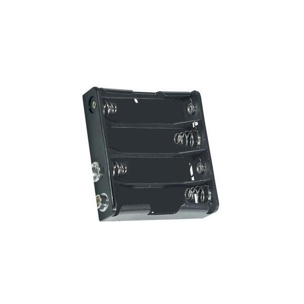 Portabatterie 4 stilo affiancate