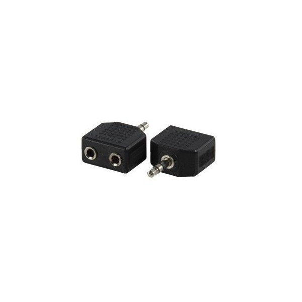 Adattatore Jack spina 3.5mm 2 prese jack 3.5mm stereo