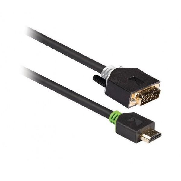 Cavo HDMI - DVI dorato 2mt