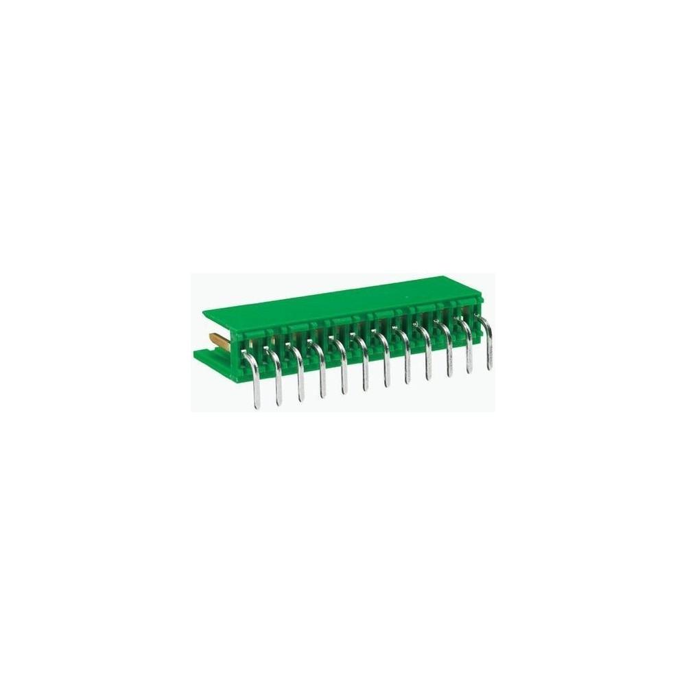Connettore AMP SERIE MODU I maschio 10 poli c.s. angolato