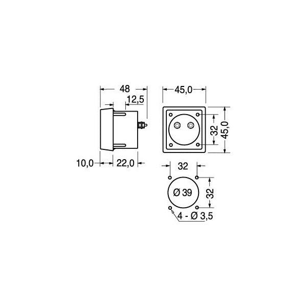 Amperometro 10A da pannello