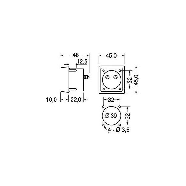 Voltmetro 30Vdc da pannello