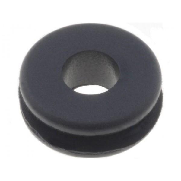 3mm black rubber grommet