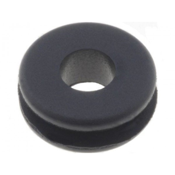 Passacavo in gomma nero 3mm