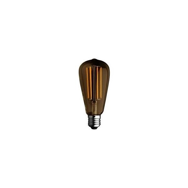 Lampada filamento LED edison GOLD 6W E27 luce calda