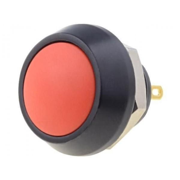 Pulsante instabile rosso 18mm IP65