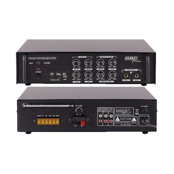 Amplificatore mono PA 100V 50W USB MP3