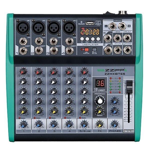 ZZMXBTE6 Mixer Compatto 6 Canali con DSP USB BLUETOOTH
