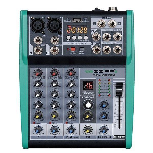 ZZMXBTE4 Mixer Compatto 4 Canali con DSP USB BLUETOOTH