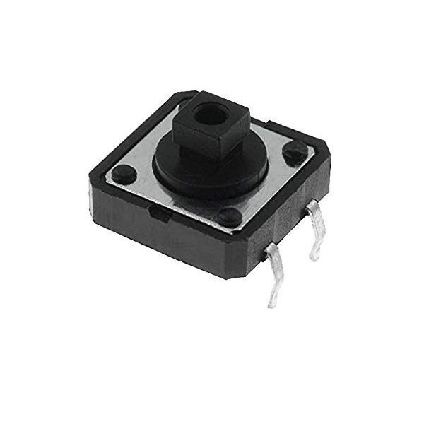 Micropulsante 12x12mm 4 pin H 7.5mm