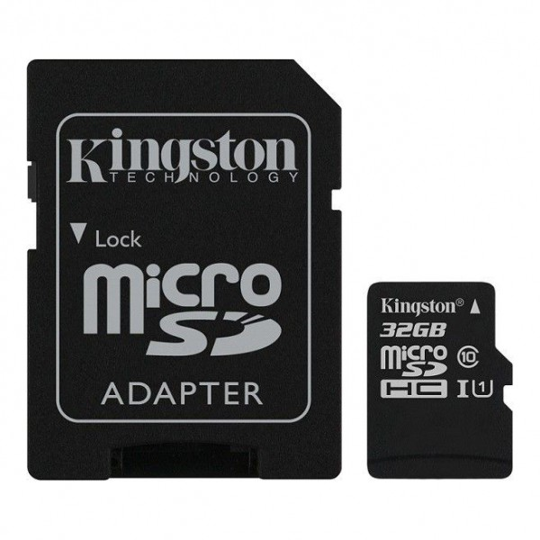 Micro SD HC kingston 32GB classe 10 con adattatore