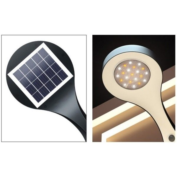 600lm natural light LED beacon with solar panel and battery