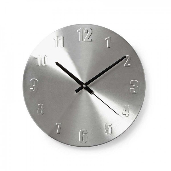 Wall clock 30cm silver