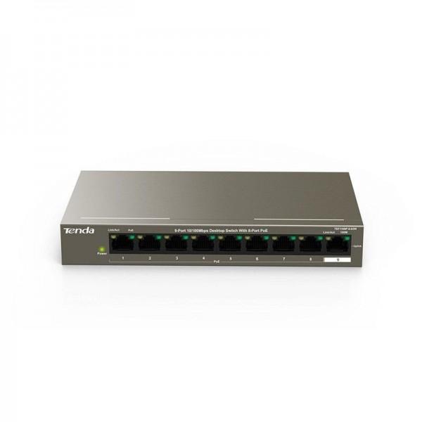 8 Ports LAN Switch 10 100 Mbps POE TEF1109P-8-63W