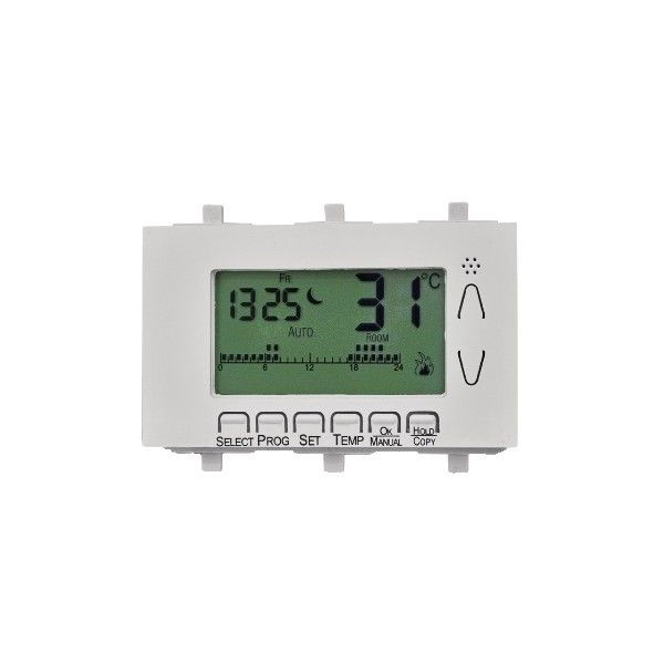 Flush-mounted weekly digital thermostat for 503 box