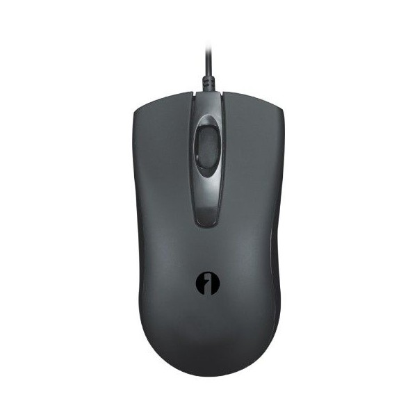 Black USB optical mouse