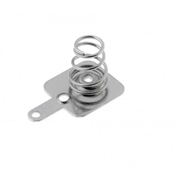 Spring contact for battery holder negative pole