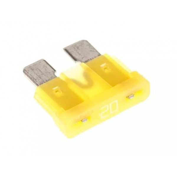 20A yellow blade fuse