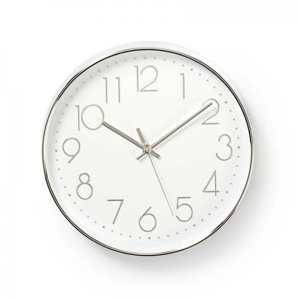 Round white wall clock 30cm