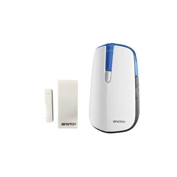 Wireless doorbell with magnetic door sensor and light