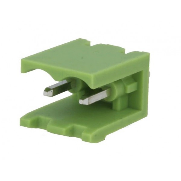 Removable 2-pole male straight terminal 5mm length for PCB