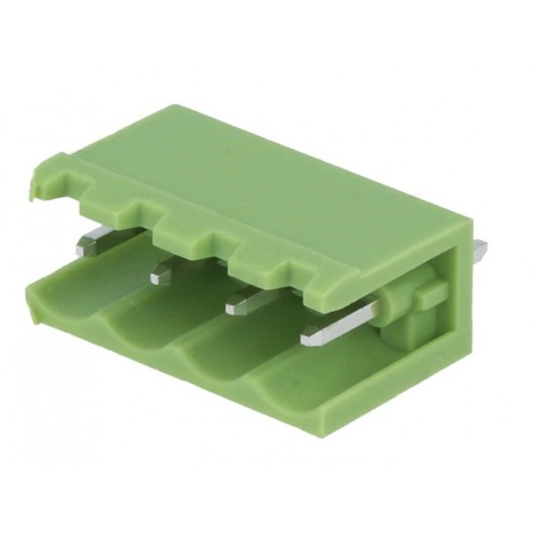 Removable straight male 4-pole terminal with 5mm pitch for PCB