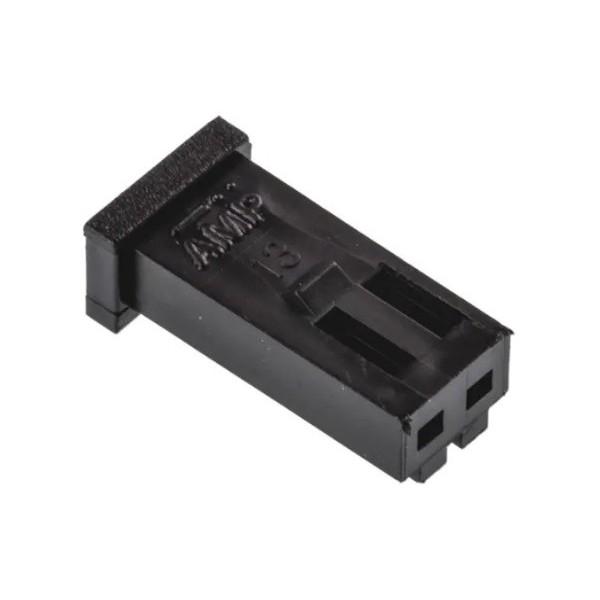 2-pole female connector AMP MODU II series 280358-0