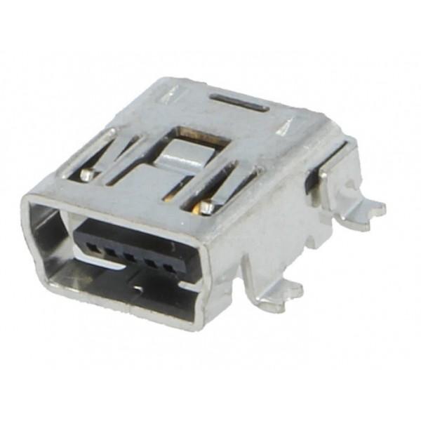 Mini USB type B socket angled for PCB