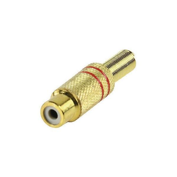 Flying red golden RCA socket