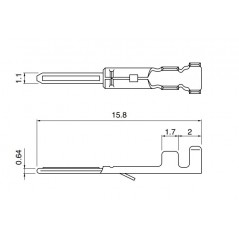 Crimp male contact for RCY connectors